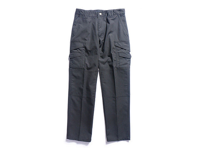Black Tactical Cargo Pants With Reinforced Knee , Military Lightweight Cargo Trousers