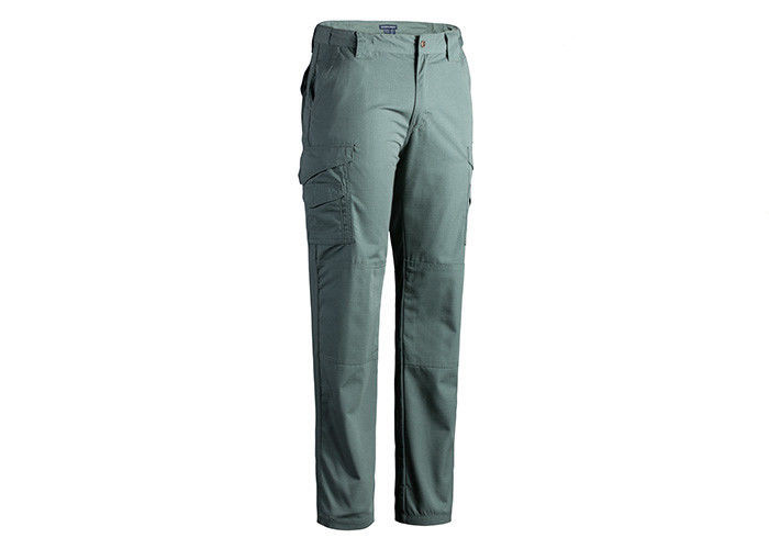 Olive Green Police Combat Trousers With Pretreated Wash Prevents Shrinkage XS-5XL