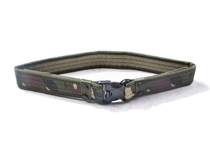 Woodland Military Web Belt With Plastic Buckle , Law Enforcement Utility Belt