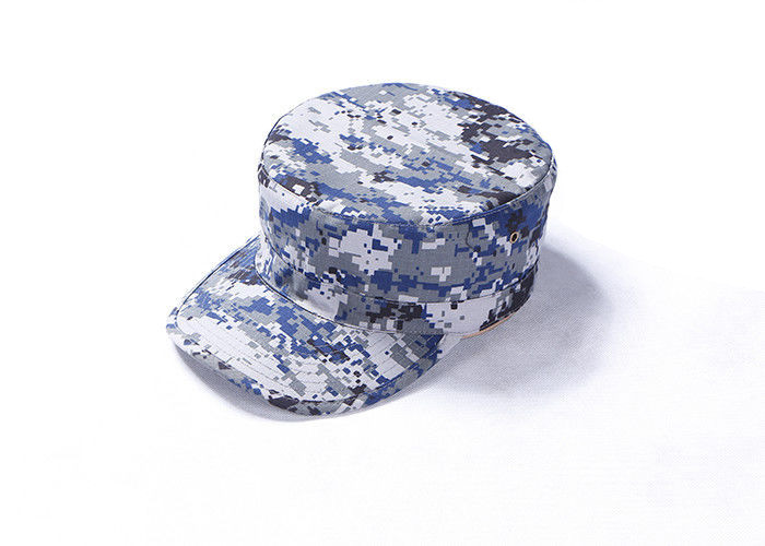 Digital Navy Camo Army Tactical Cap With Each Side Contain Three Air Holes